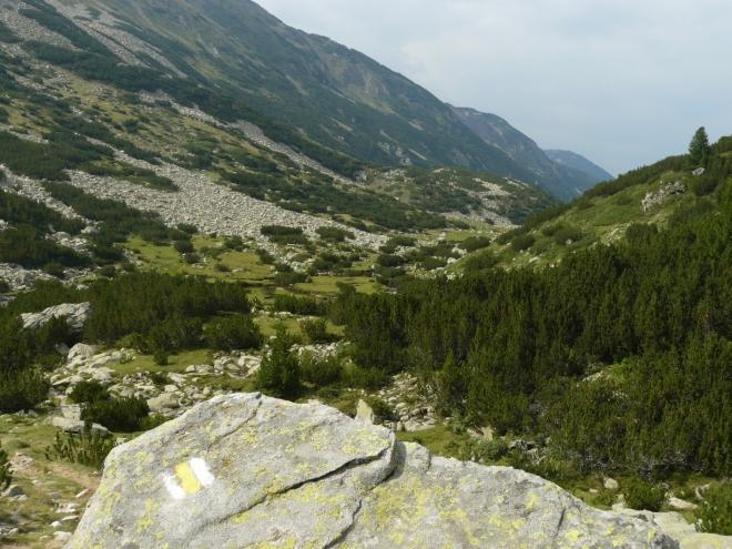 Demjanická dolina, kterou budeme sestupovat dolů do Banska.