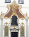 Hlavní průčelí kaple