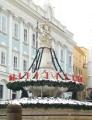 Fontána s 24 svícemi na Biskupském náměstí