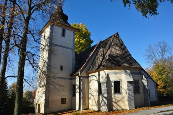 Libínské Sedlo, kostel.