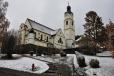Večer jdeme ke kostelu v Bayerische Eisensteinu.