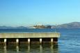 California, San Francisco - Alcatraz z přístavu