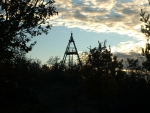 západ slunce na Vysokém vrchu
