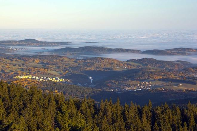 Pohled z Boubínské rozhledny - Vimperk