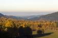 Pohled na zámek ve Vimperku od vesnice Lipka