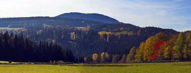 okolí vesničky Škarez - panoráma