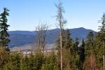 Z vrcholové plošiny dohlédneme k Volarům, Bobíku i Boubínu.