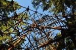 Železná konstrukce je přímo u vrcholu.