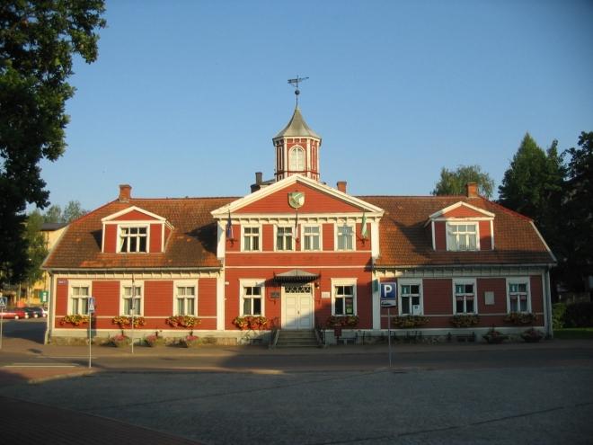 Radnice z roku 1865 napodobující tradiční architekturu