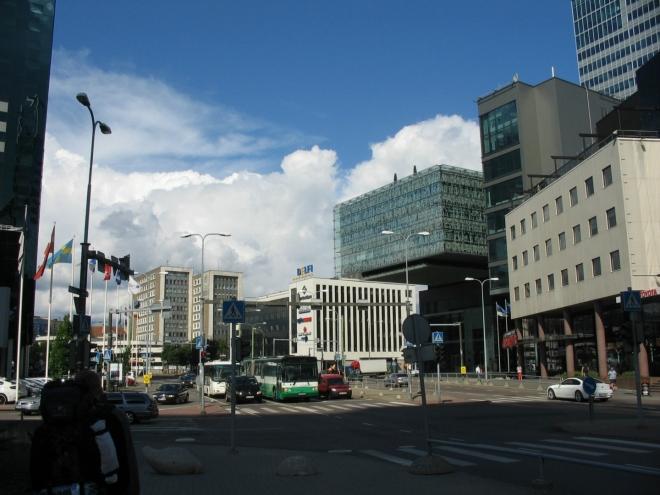 """Toto """"skleněné"""" centrum Tallinnu není nijak velké, ale některé z místních budov bych se nebál nazvat mrakodrapy."""