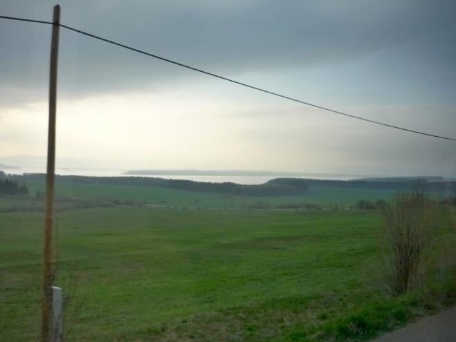 Oravská přehrada v dálce