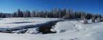 Abych postihl celou krásu okolí potoka, fotím dvakrát s posunem pro finální panorama.