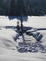 Cestou zpět začínám fotit až po sjezdu na Javoří pilu.