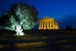 Tempio della Concordia (Chrám svornosti) v noci