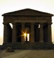Tempio della Concordia (Chrám svornosti) v podvečerním protisvětle