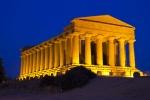 Tempio della Concordia (Chrám svornosti) - pozdní večer