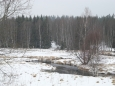 Za řekou je přírodní památka (PP) Spálený luh, údolní rašeliniště.