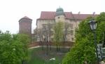 Pohled na část hradu Wawel