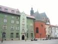 Velký rynek je oddělen od Starého města domy