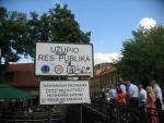 Vstup do čtvrti Užupis, Vilnius