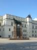 Pomník velkoknížete Gedimina a Královský palác (Valdovų rūmai), Katedrální náměstí, Vilnius