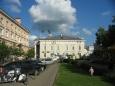 Pohled k radnici z ulice Vokiečių (Německá), Vilnius