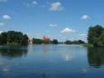 Jezero Galvė a hrad Trakai, Litva