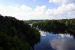 Pohled za Zvíkovského mostu