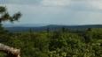 pohled na jihozápad, vzadu hřeben západních Brd a vpředu Těchovín nad hájovnou Lazce ...