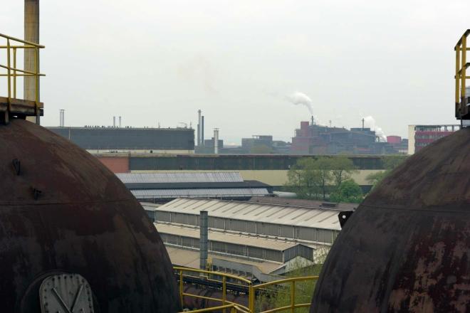výhled na výrobní provozy z VP1