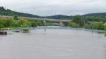 tři mosty nad řekou - zvedací lávka, dálniční a železniční most