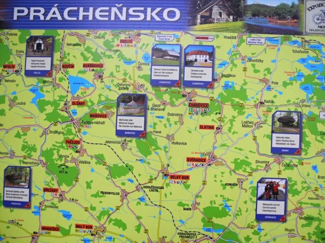 Práchaňsko je krajem, kde se kamenité zalesněné vrchy pravidelně střídají s rybníky, poli a loukami. Lákají tak rozmanitou přírodou nejen pěší, ale i cyklisty.