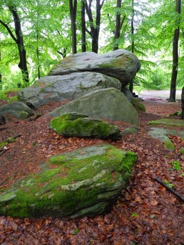 Kámen je příkladem zvětrávání hlubinných vyvřelin. V okolí se vyskytují i jiné podobné zvětralé skalní útvary, označované jako Čertovy kameny a opředené různými pověstmi. K tomuto kameni váže pověst, že Jan Žižka zde odpočíval při dobývání hradu Rabí. Snažil se nalézt a vyplenit i chanovický dvůr, ale husté porosty zdejších lesů ho pečlivě ukryly. O tom, jak dlouho Žižka čekal, než chanovický dvůr najdou, svědčí důlek vysezený na nejvyšším místě balvanu.