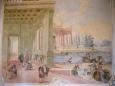 Skvostné prostory především zdobí skvělé barokní a rokokové nástěnné malby s motivy antických bájí a mytologie, jejichž autorem je Carpofore Tencalla.