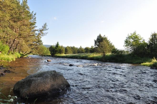 Jasné ráno trochu kalí jen brzká návštěva, náladu z krásné přírody si ale kazit nenecháme.