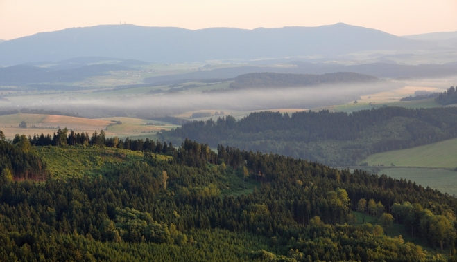 Pohled na hřeben Hohen Bogenu je trochu jiný než z Čerchova.