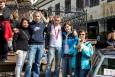 Na náměstí v Banskej Štiavnici - s přáteli