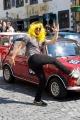 Na náměstí v Banskej Štiavnici - v době pauzy bylo možné si i zatancovat ve stylu Harlem Shake, což někteří účastníci využili