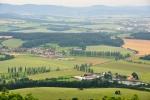 Pohled do krajiny na Novodvorský rybník a Spáňov.
