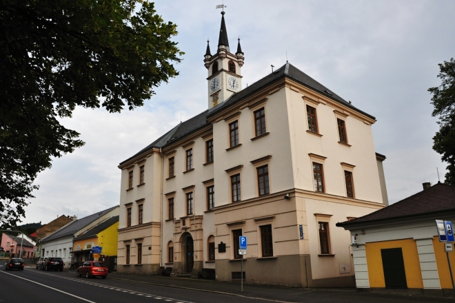 Budova městského úřadu.