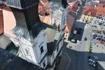 Roku 1636 se v Klatovech usadili jezuité, kteří se snažili převést protestantské obyvatelstvo na katolickou víru. Proto byly vedle Černé věže položeny základy jezuitského chrámu. Tři portály v čele kostela jsou dílem Kiliána Ignáce Dienzenhofera. Kostel několikrát vyhořel, do současné podoby byl opraven po požáru v roce 1810. Chrám je 49 metrů dlouhý a 28 metrů široký, výška hlavní lodi je 23,4 metru.