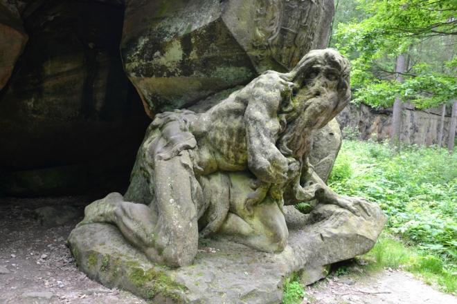 Braunův Betlém. Socha poustevníka Juana Garina.