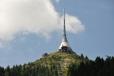 Ještěd je hora ležící jižně od Liberce a jde o nejvyšší vrchol a jedinou tisícovku Ještědsko-kozákovského hřbetu. Na vrcholu je známý televizní vysílač v technicistním architektonickém stylu.