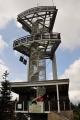 """Až v roce 1992 vznikla v Novém Městě pod Smrkem """"Společnost pro obnovu rozhledny"""". Samotná stavba 20 metrů vysoké ocelové stavby architekta Jana Dudy začala v roce 2001 a byla otevřena 18. září 2003.Zajímavostí je, že v roce 2009 byla zhotovena dřevěná kopie původní rozhledny dle dochovaných plánů; tato rozhledna Obora stojí v pražské zoologické zahradě."""