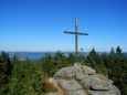 Vrcholový kříž Bärensteinu.