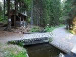 Schwarzenberský kanál je zde využíván přibližně jednou měsíčně pro ukázku splavování dřeva.