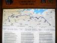 Mapka celého úseku Schwarzenberského kanálu.