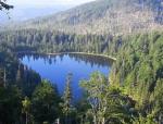 Pohled k Roklanskému jezeru od kaple.