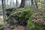 Nejvyšším bodem (996 m n. m.) je tato skalka.