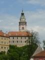 Krásně malovaná zámecká vež